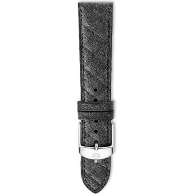 Michele 20Mm Quilted Watch Strap