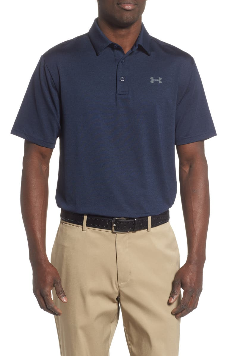 UNDER ARMOUR Playoff 2.0 Loose Fit Polo, Main, color, ACADEMY/ PITCH GREY