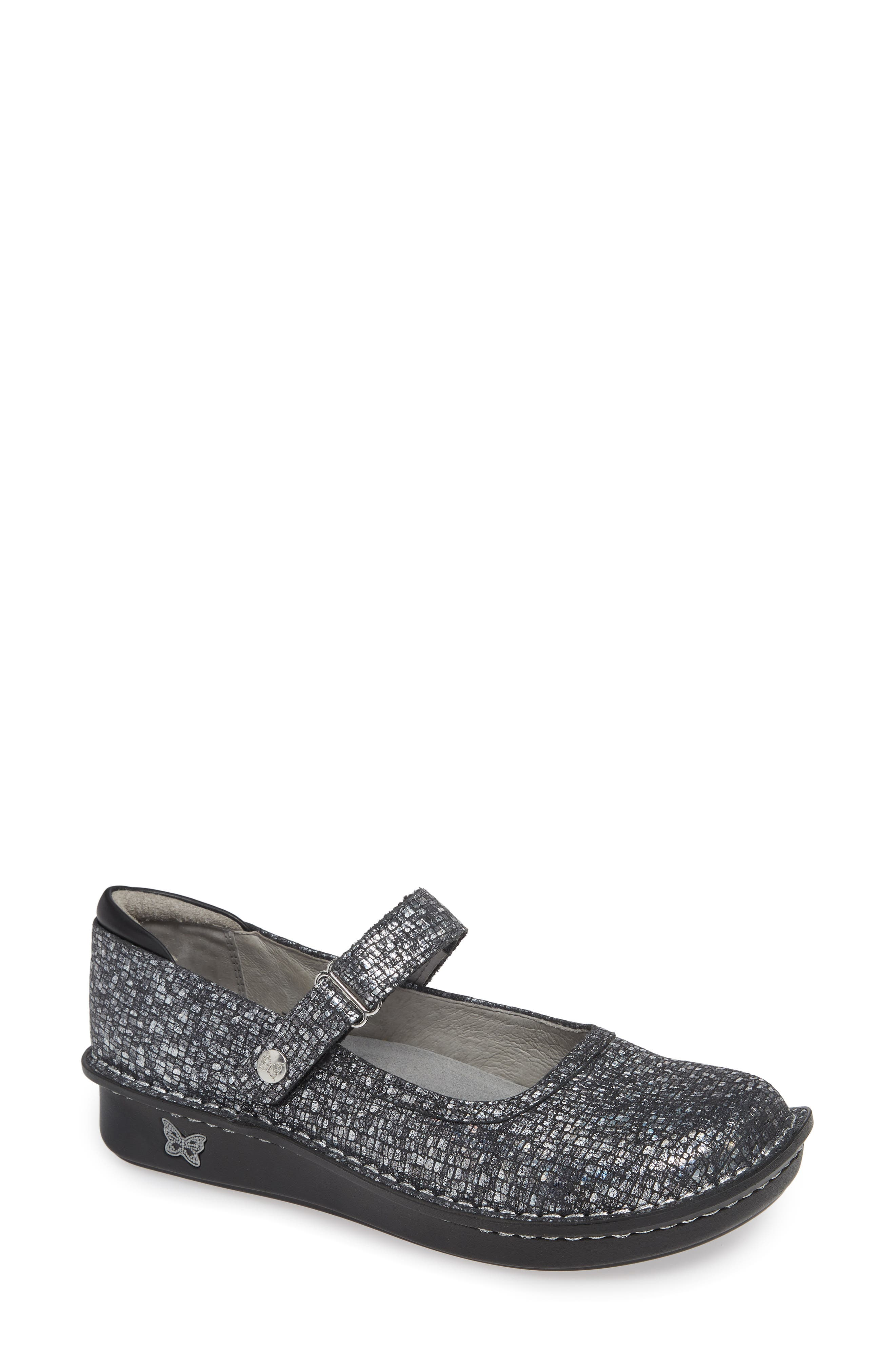 ,                             'Belle' Slip-On,                             Main thumbnail 1, color,                             SILVER SLATE LEATHER