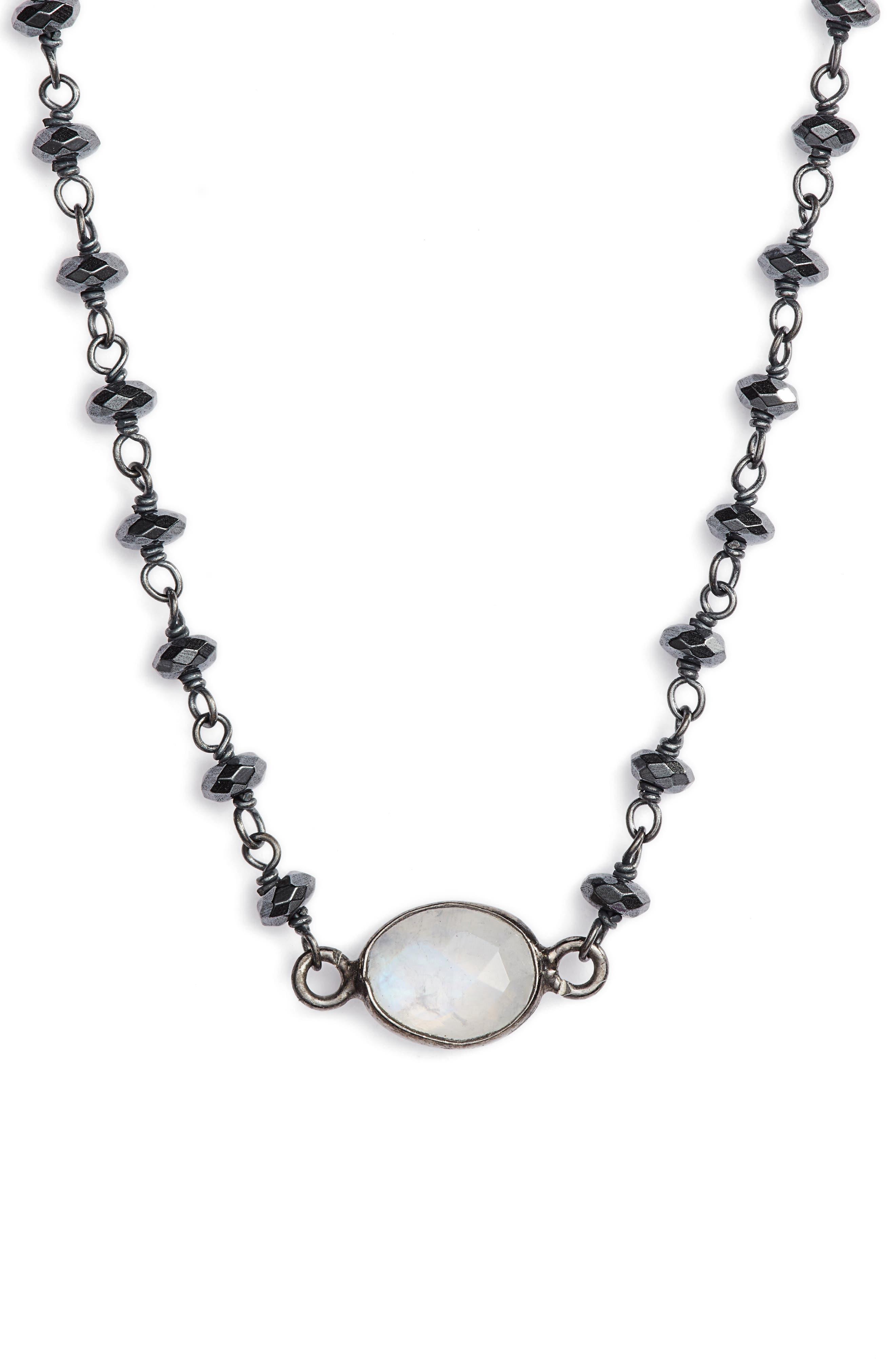 Semiprecious Stone Collar Necklace