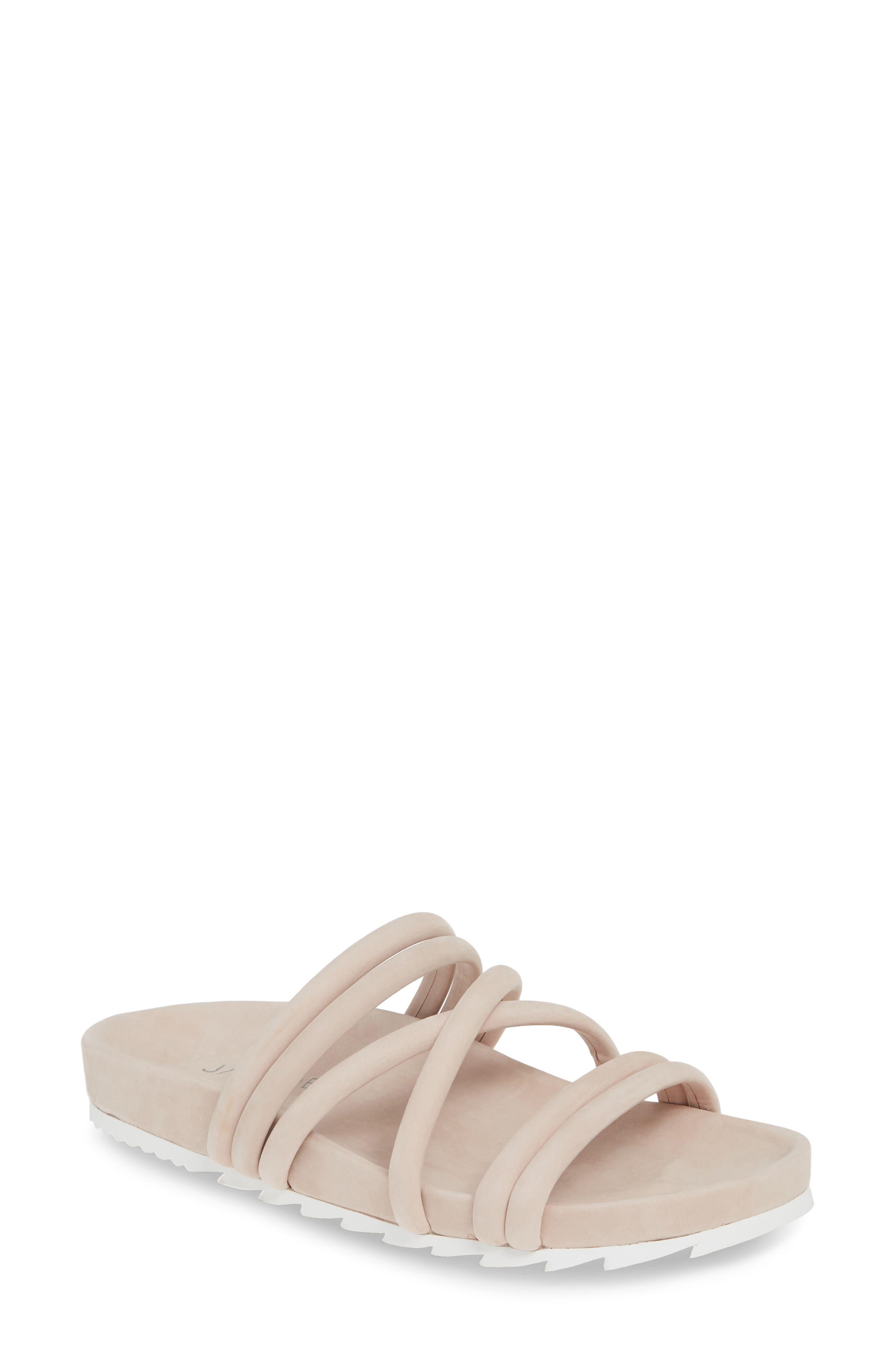 Jslides Tess Strappy Slide Sandal, Pink
