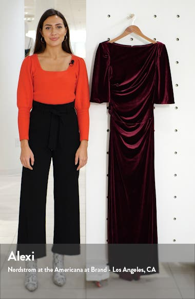 Capelet Velvet Gown, sales video thumbnail