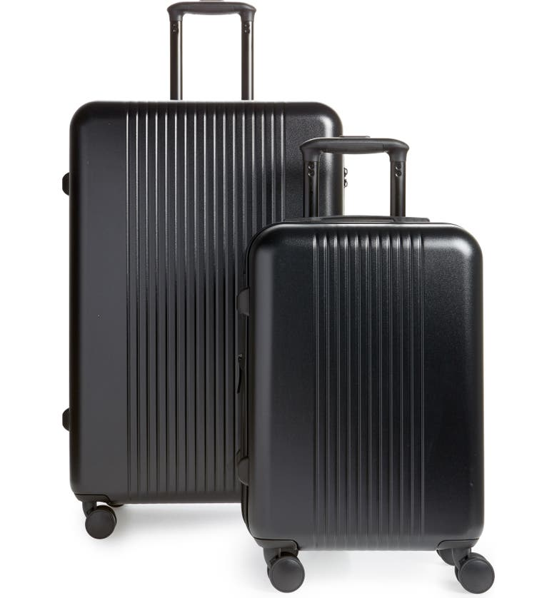 NORDSTROM 2-Piece 29-Inch & 20-Inch Spinner Luggage Set, Main, color, BLACK