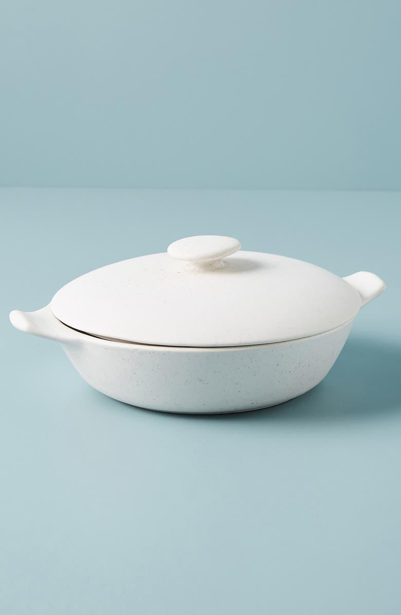 ANTHROPOLOGIE Alden Lidded Serving Dish, Main, color, WHITE