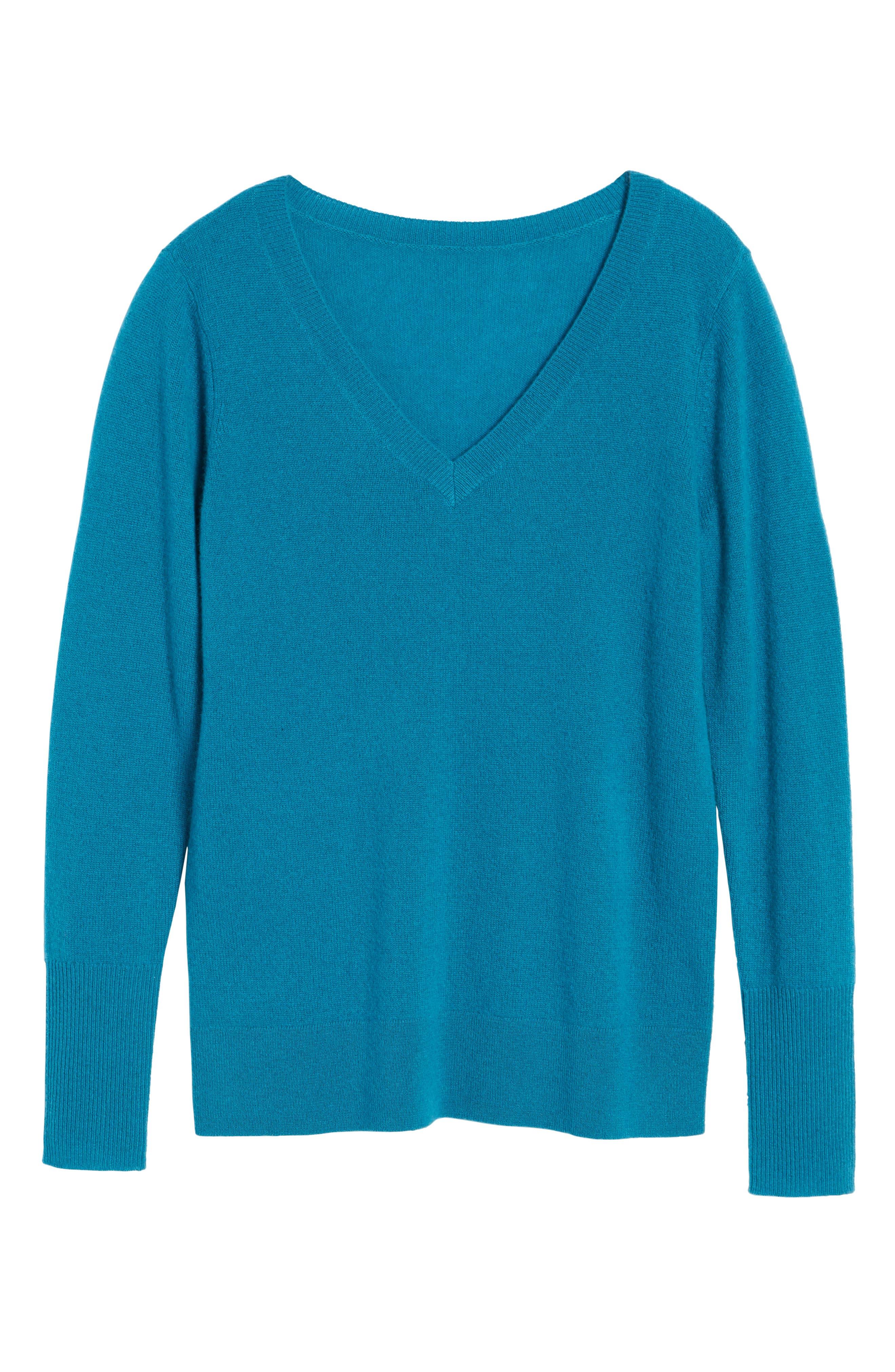 ,                             V-Neck Cashmere Sweater,                             Alternate thumbnail 46, color,                             449