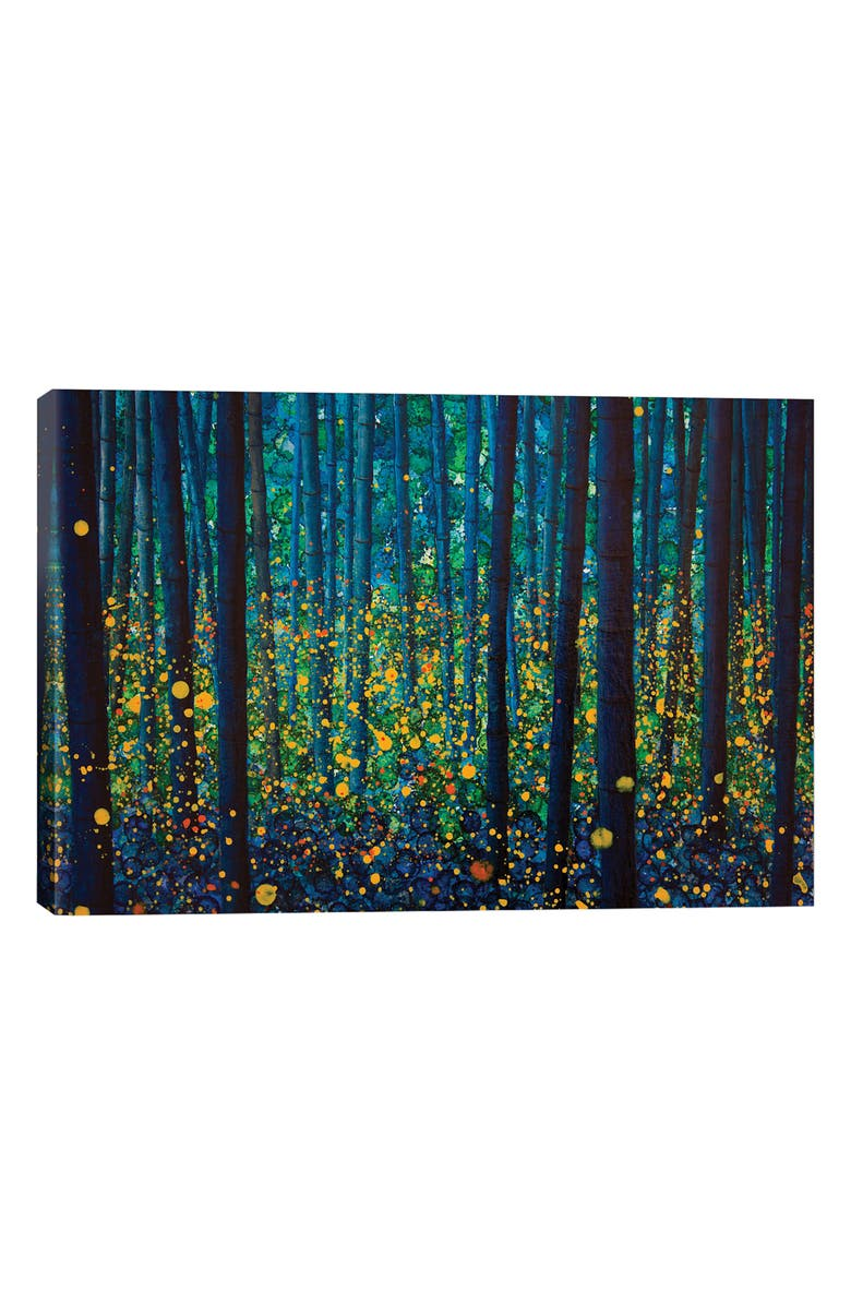 ICANVAS Fireflies by db Waterman Giclée Print Canvas Art, Main, color, BLUE