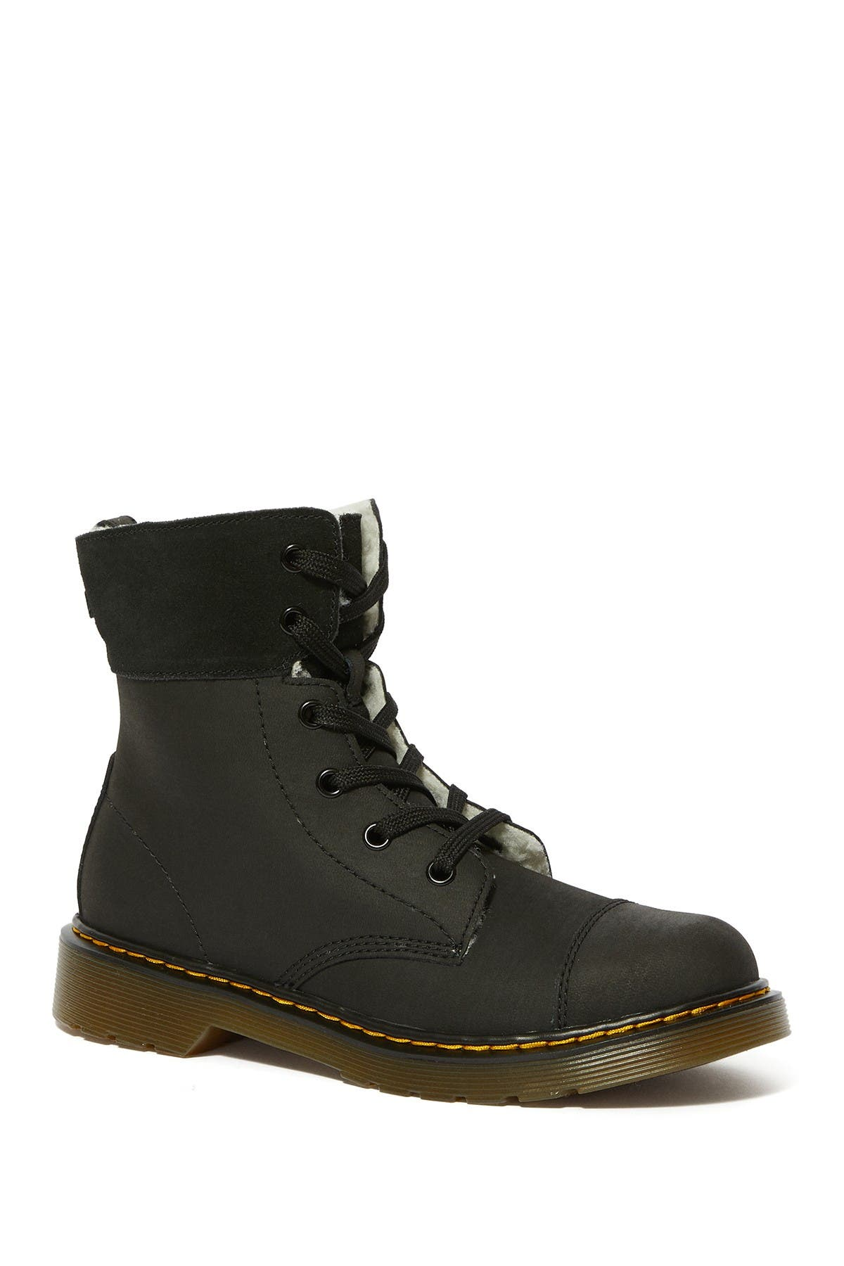 Image of Dr. Martens Aimlita Faux Shearling Lined Combat Boot
