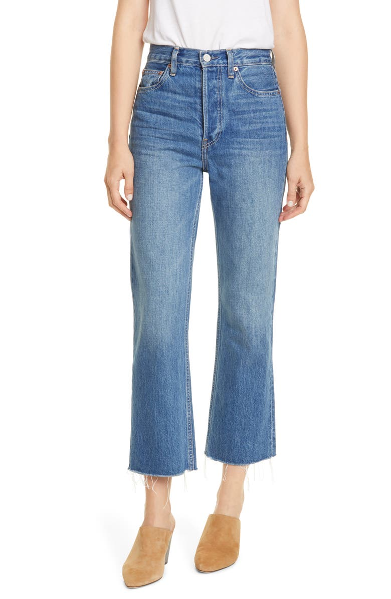 TRAVE Gia High Waist Crop Jeans, Main, color, SWEET EMOTION