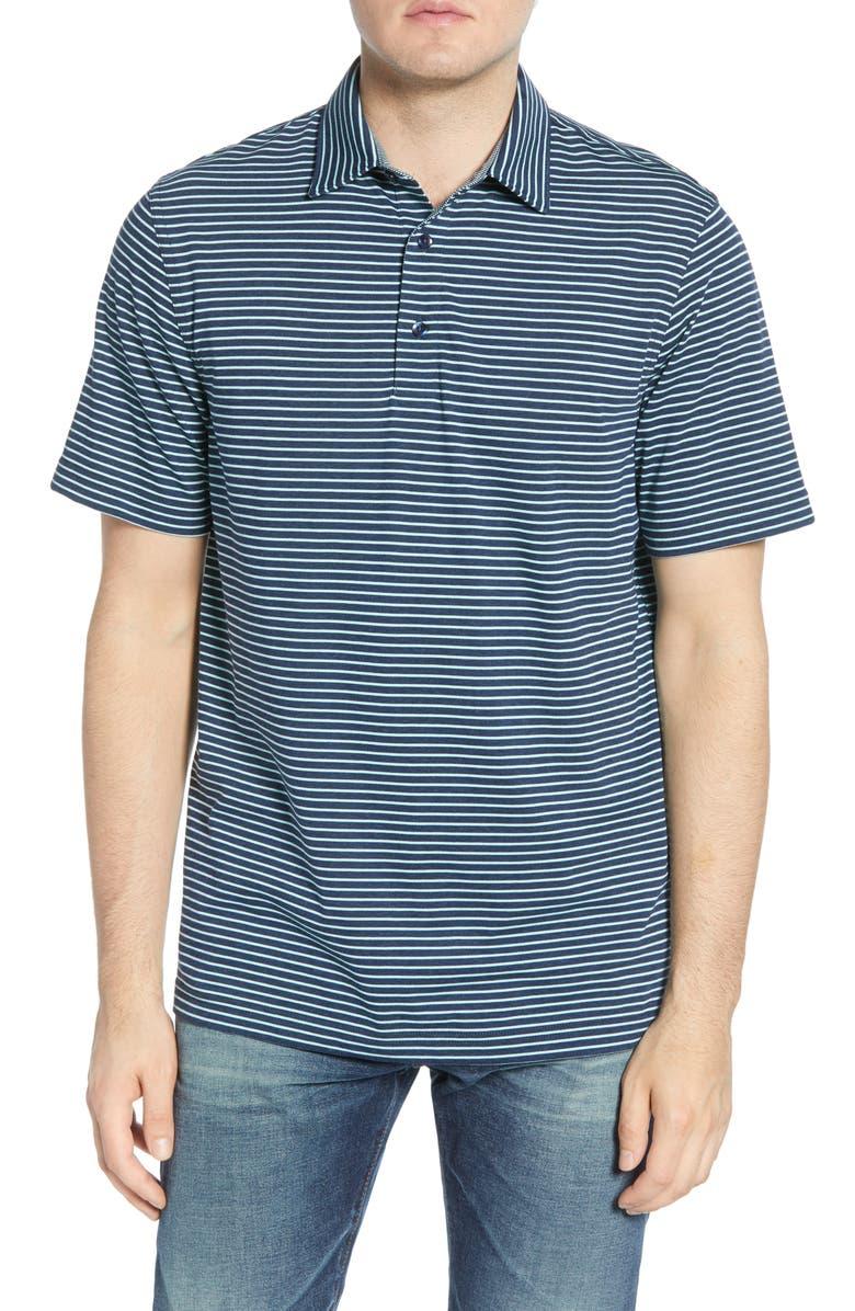 VINEYARD VINES Regular Fit Polo, Main, color, MARINA