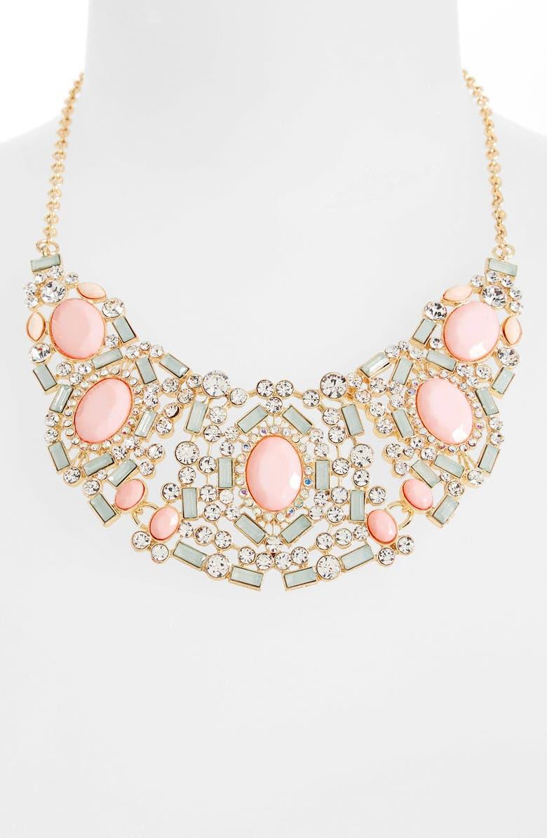 BP. Crystal Bib Necklace, Main, color, 650