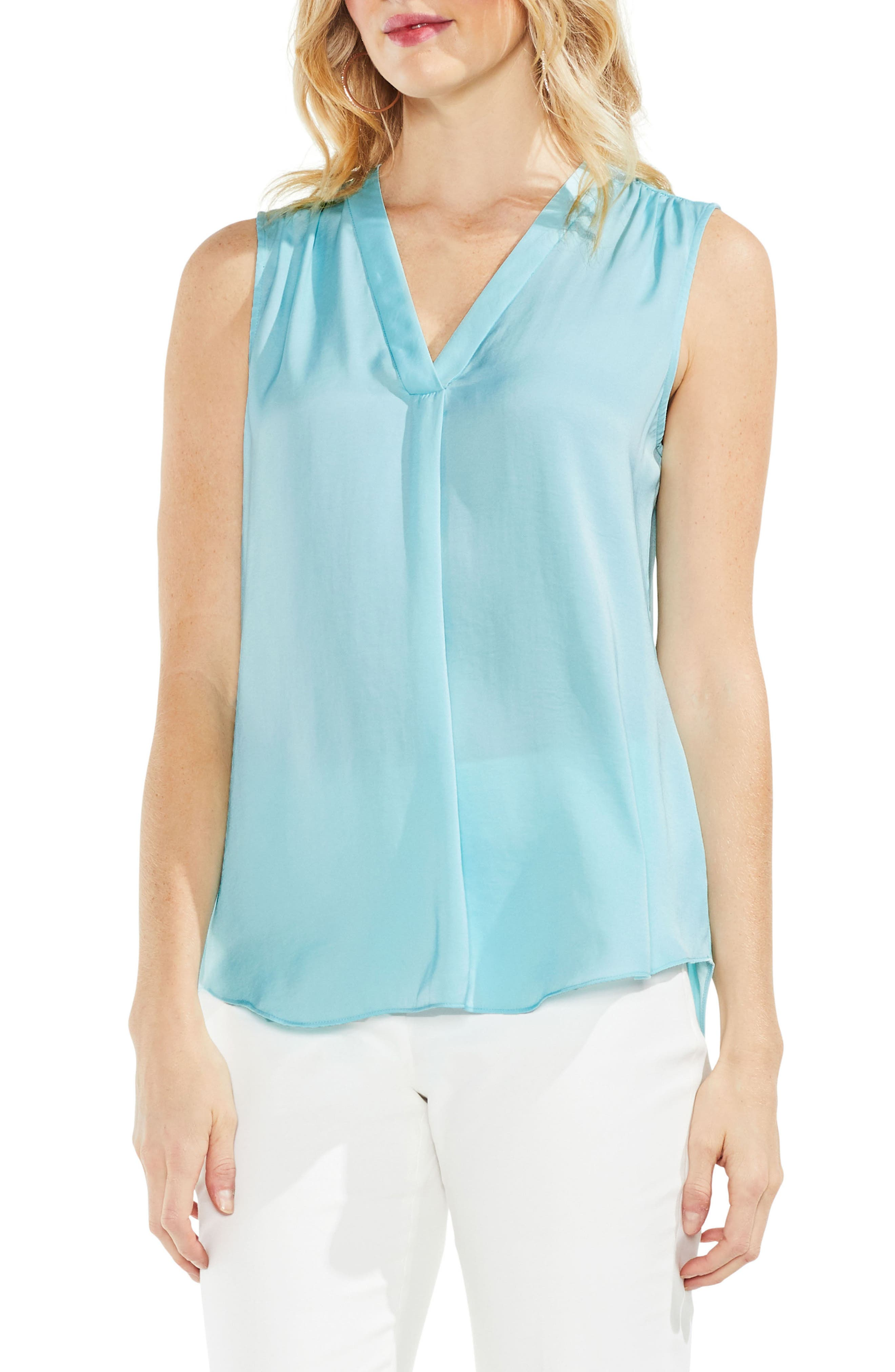 ,                             Rumpled Satin Blouse,                             Main thumbnail 196, color,                             487