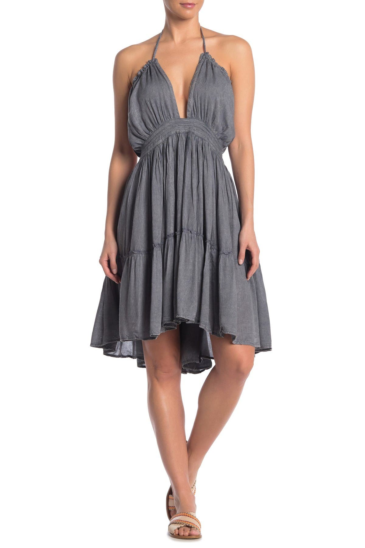 Image of BOHO ME Woven Halter Cover-Up Dress