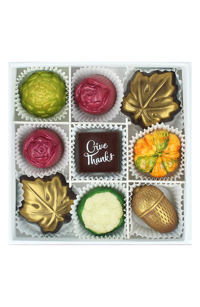MAGGIE LOUISE CONFECTIONS Hello Autumn 9-Piece Chocolates, Main, color, WHITE