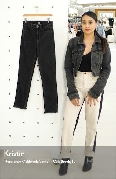 Hoxton High Waist Fray Ankle Skinny Jeans, sales video thumbnail