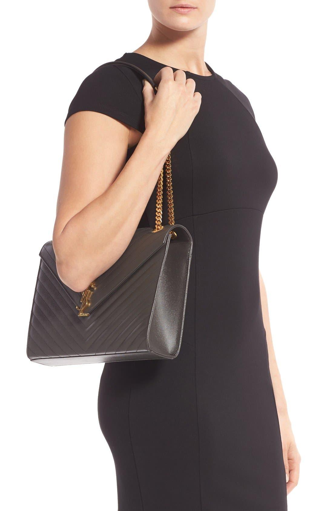 ,                             'Large Monogram' Grained Leather Shoulder Bag,                             Alternate thumbnail 20, color,                             021