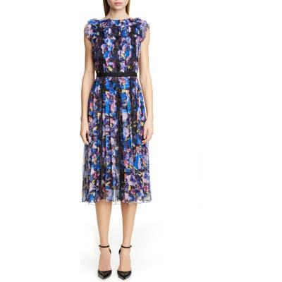 Jason Wu Collection Print Chiffon Day Dress, Blue