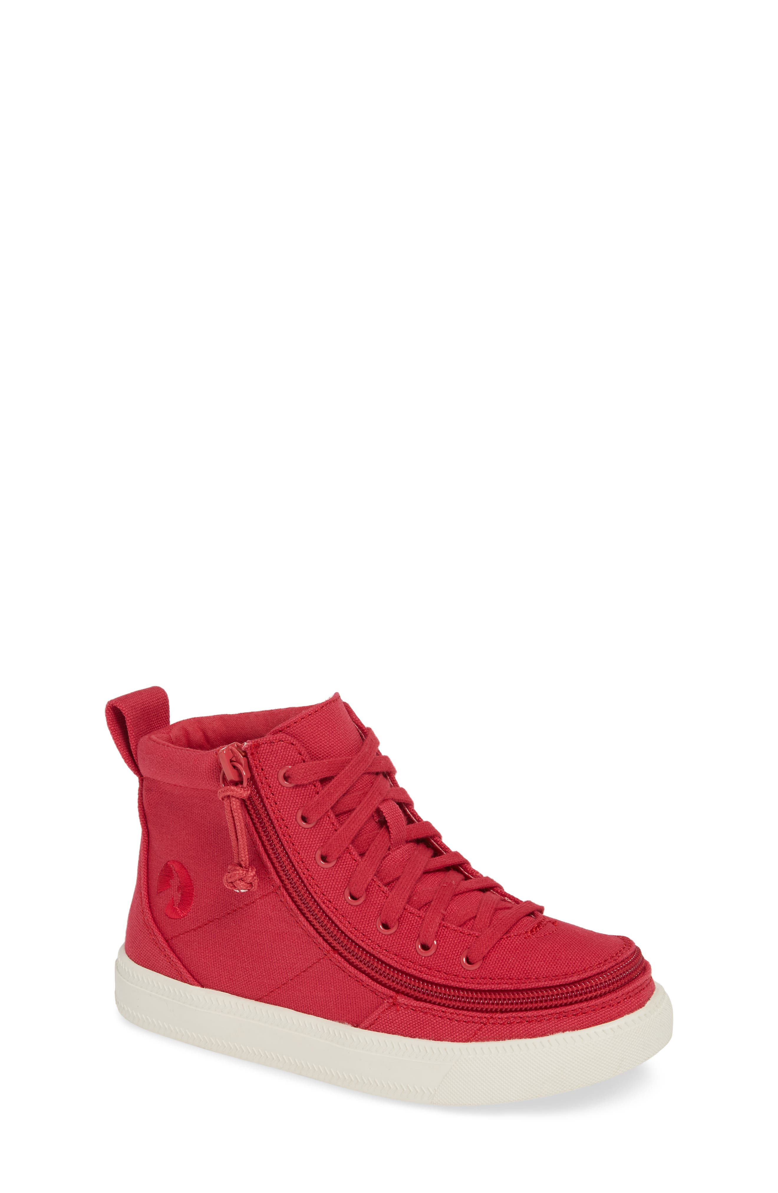 Image of BILLY Footwear Canvas Lace-Up Zip Around High Top Sneaker