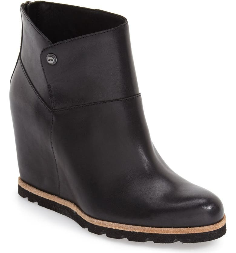 UGG<SUP>®</SUP> 'Amal' Wedge Boot, Main, color, 001