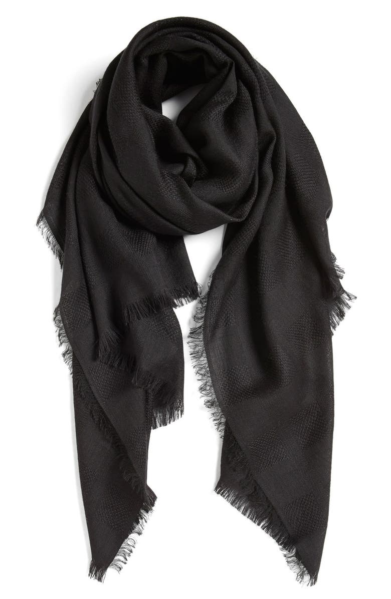 NORDSTROM Texture Woven Scarf, Main, color, 001
