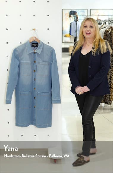 Corinthia Longline Denim Jacket, sales video thumbnail