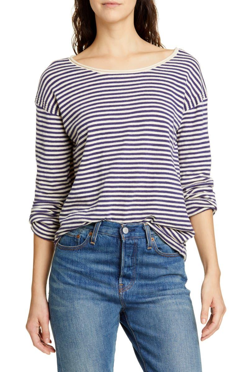 ALEX MILL Roll Neck Stripe Sweater, Main, color, 400