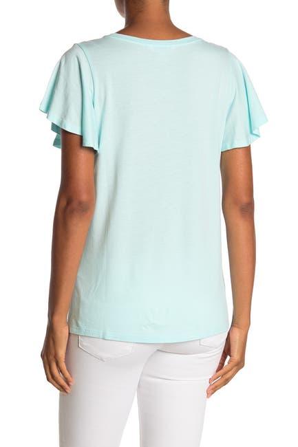 Image of Tommy Bahama Flutter Sleeve Pocket T-Shirt