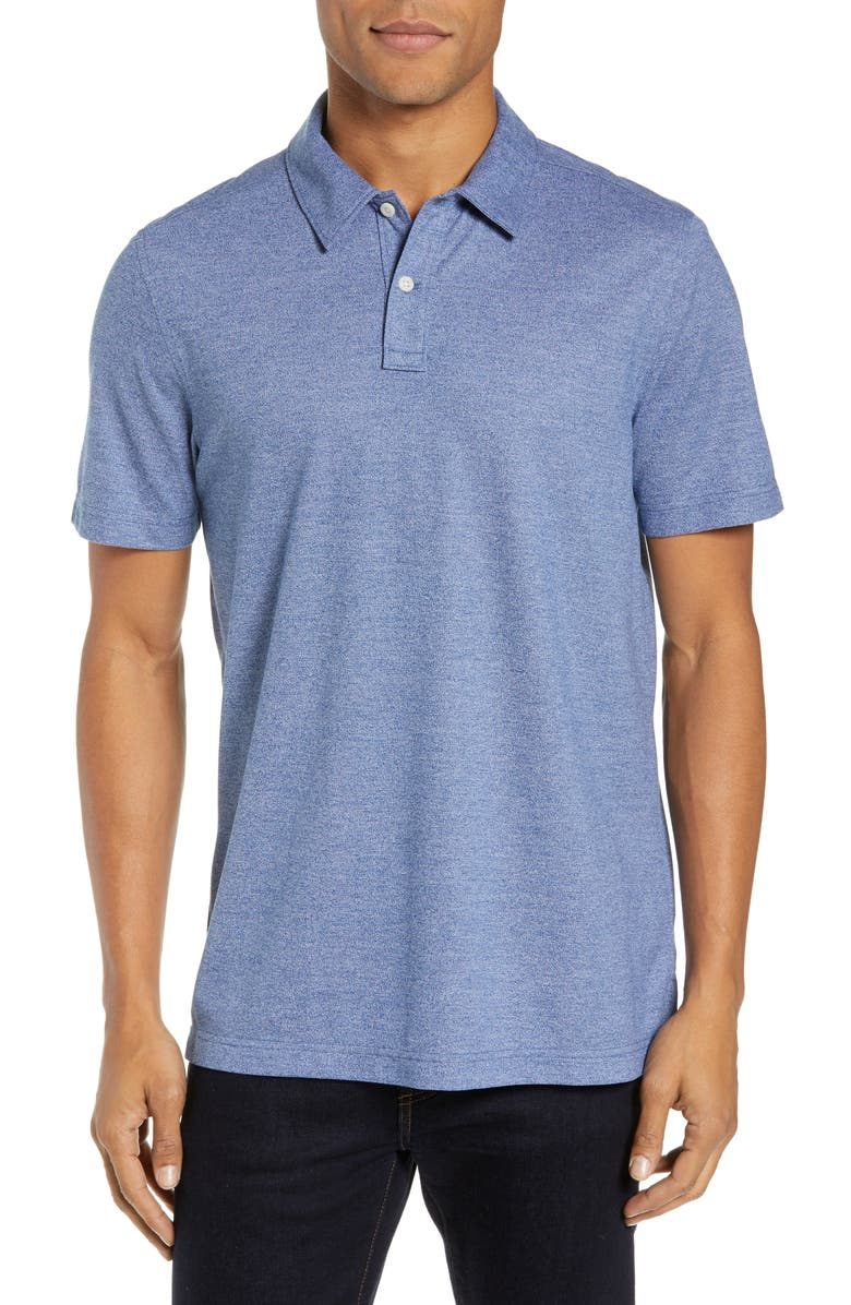 NORDSTROM MEN'S SHOP Regular Fit Polo, Main, color, BLUE CASPIA MELANGE