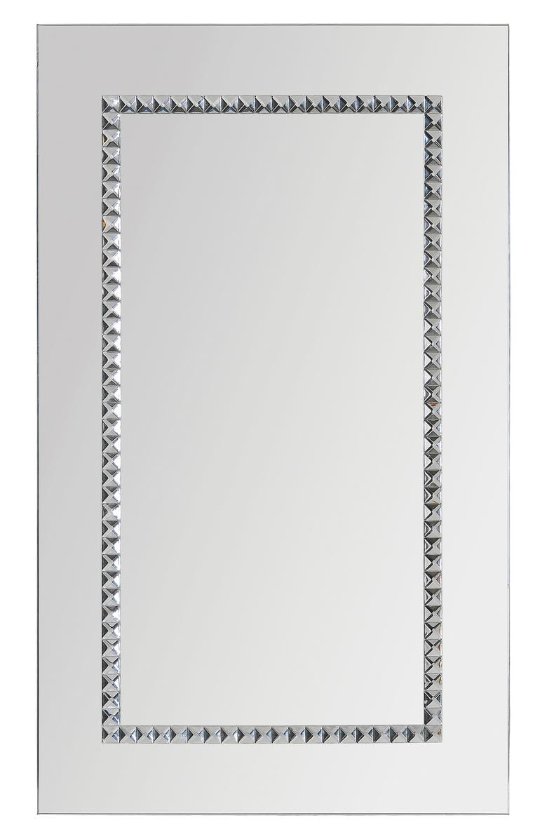 RENWIL Embedded Jewels Mirror, Main, color, METALLIC SILVER