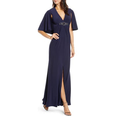 Eliza J Cape Back Gown, 8 (similar to 1) - Blue