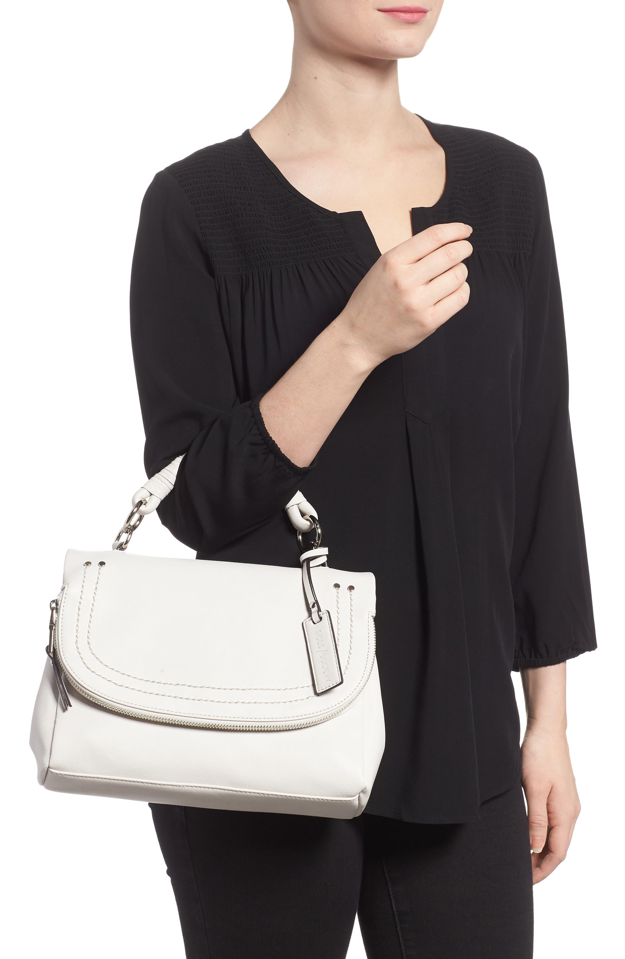 ,                             Top Handle Faux Leather Crossbody Bag,                             Alternate thumbnail 2, color,                             101