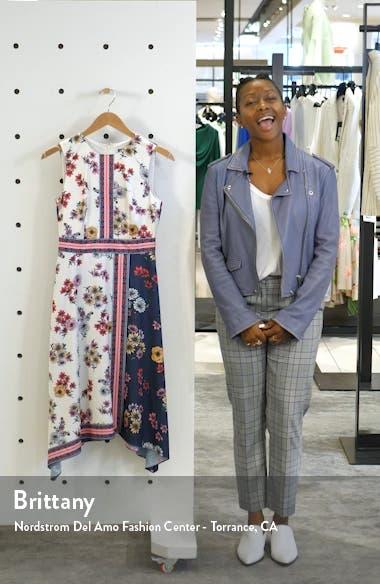 Scarf Print Sleeveless Handkerchief Dress, sales video thumbnail