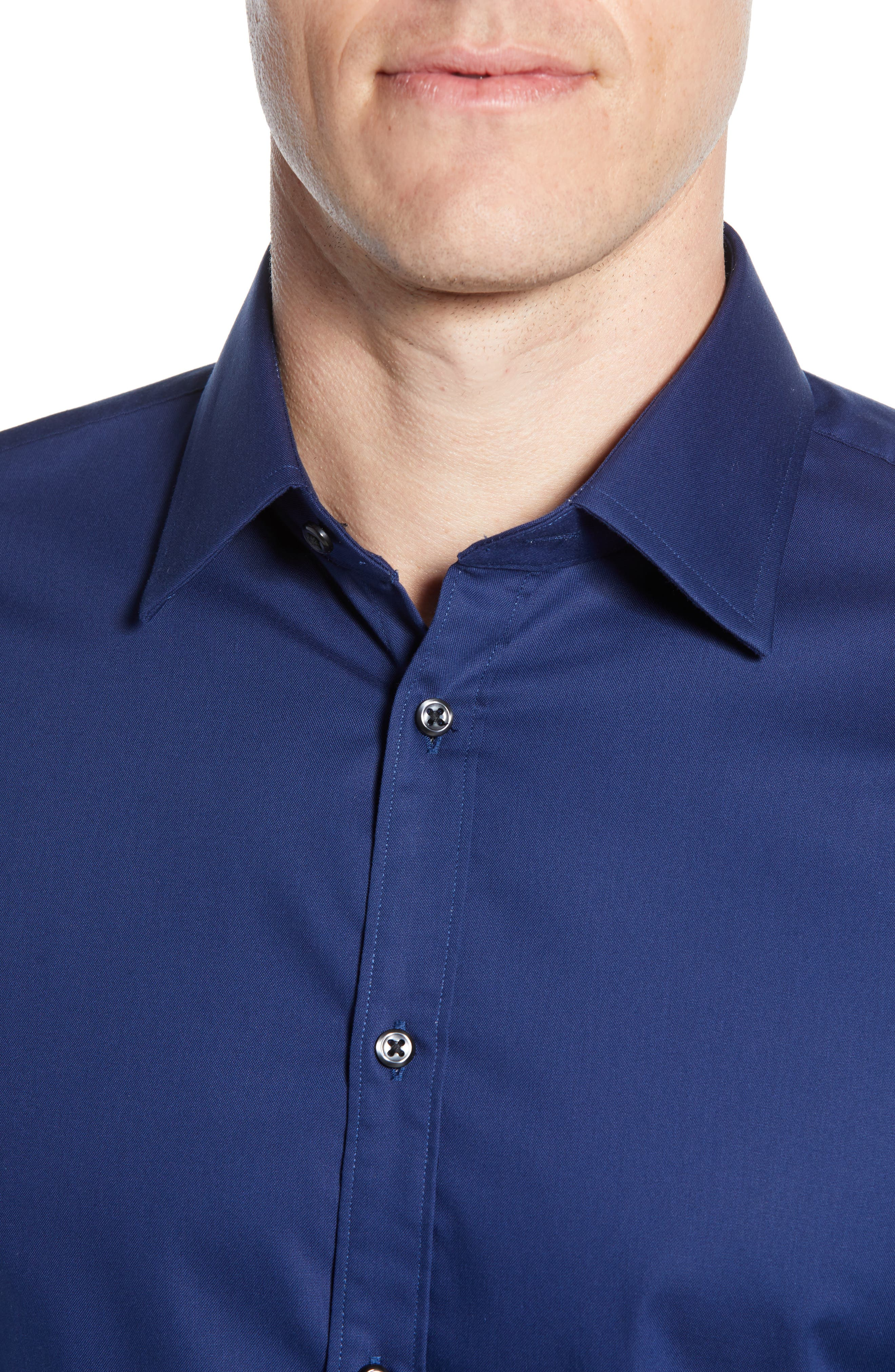 ,                             Extra Trim Fit Non-Iron Solid Dress Shirt,                             Alternate thumbnail 14, color,                             410