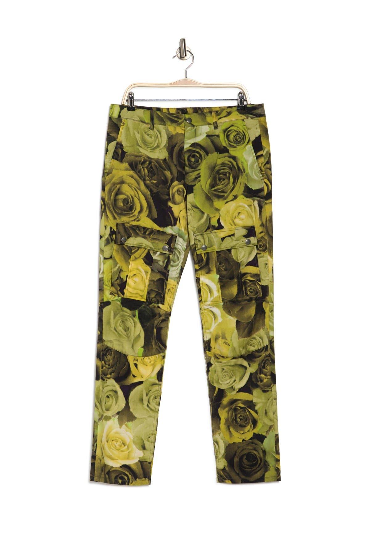 Image of MOSCHINO Rose Printed Cargo Pants