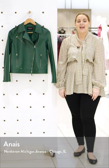 Bernice Leather Moto Jacket, sales video thumbnail