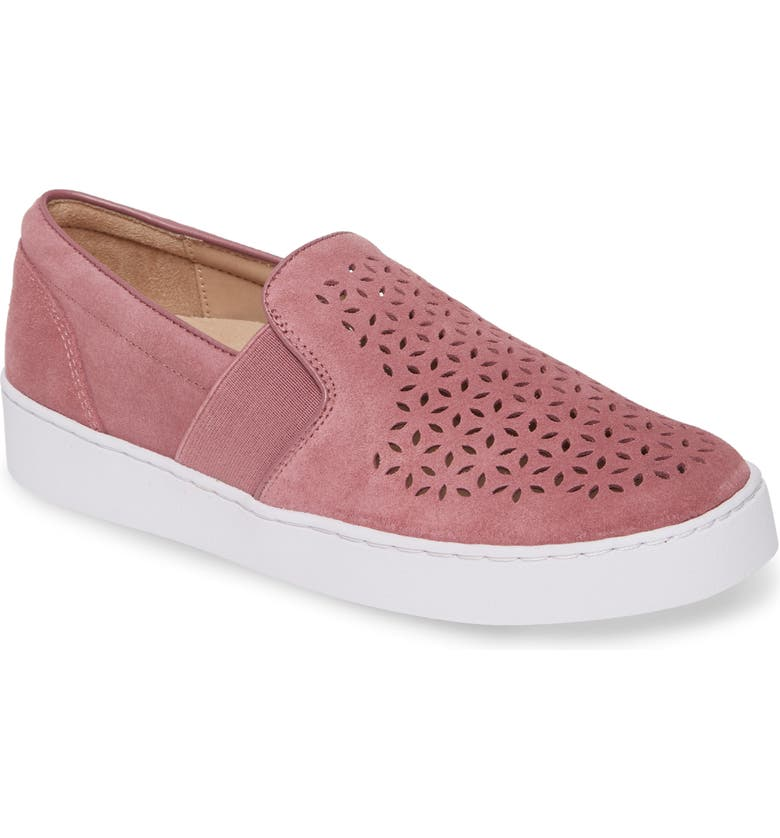 VIONIC Kani Perforated Slip-On Sneaker, Main, color, FRENCH ROSE SUEDE