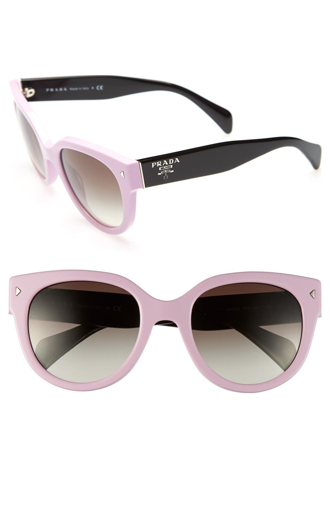 ,                             54mm Cat Eye Sunglasses,                             Main thumbnail 17, color,                             650