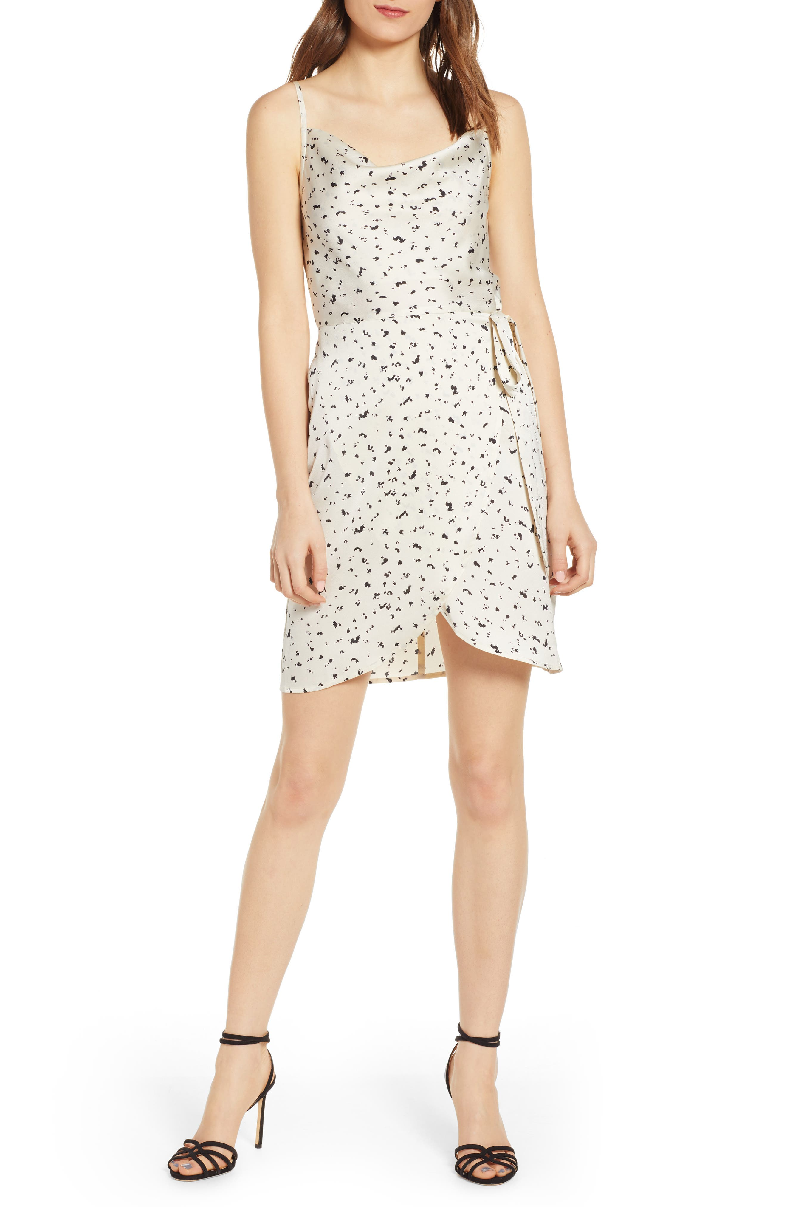 J.o.a. Wrap Slipdress, Ivory