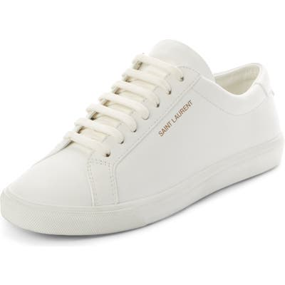 Saint Laurent Andy Low Top Sneaker, White