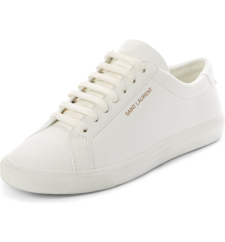 SAINT LAURENT Andy Low Top Sneaker, Main, color, WHITE