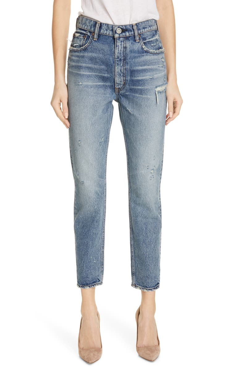 MOUSSY VINTAGE Everett Boyfriend Ankle Skinny Jeans, Main, color, LIGHT BLUE