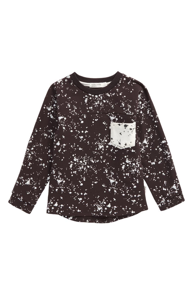 MILES BABY Splatter Long Sleeve Shirt, Main, color, 021
