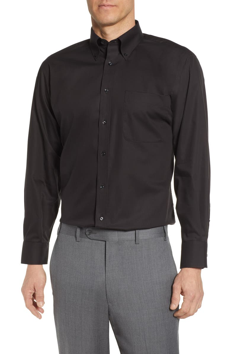 NORDSTROM MEN'S SHOP Classic Fit Non-Iron Dress Shirt, Main, color, BLACK