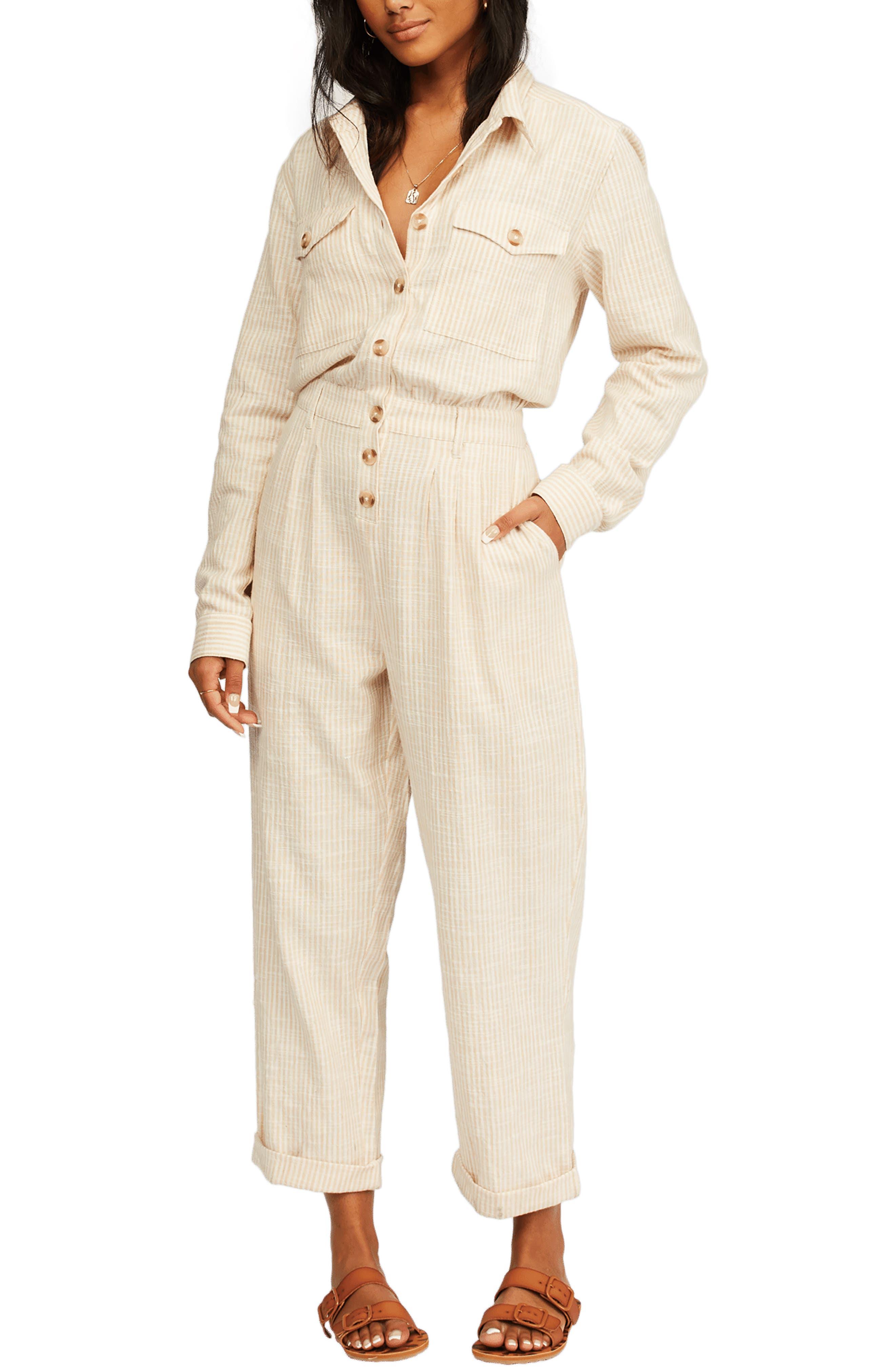 Dare Me Long Sleeve Cotton Jumpsuit