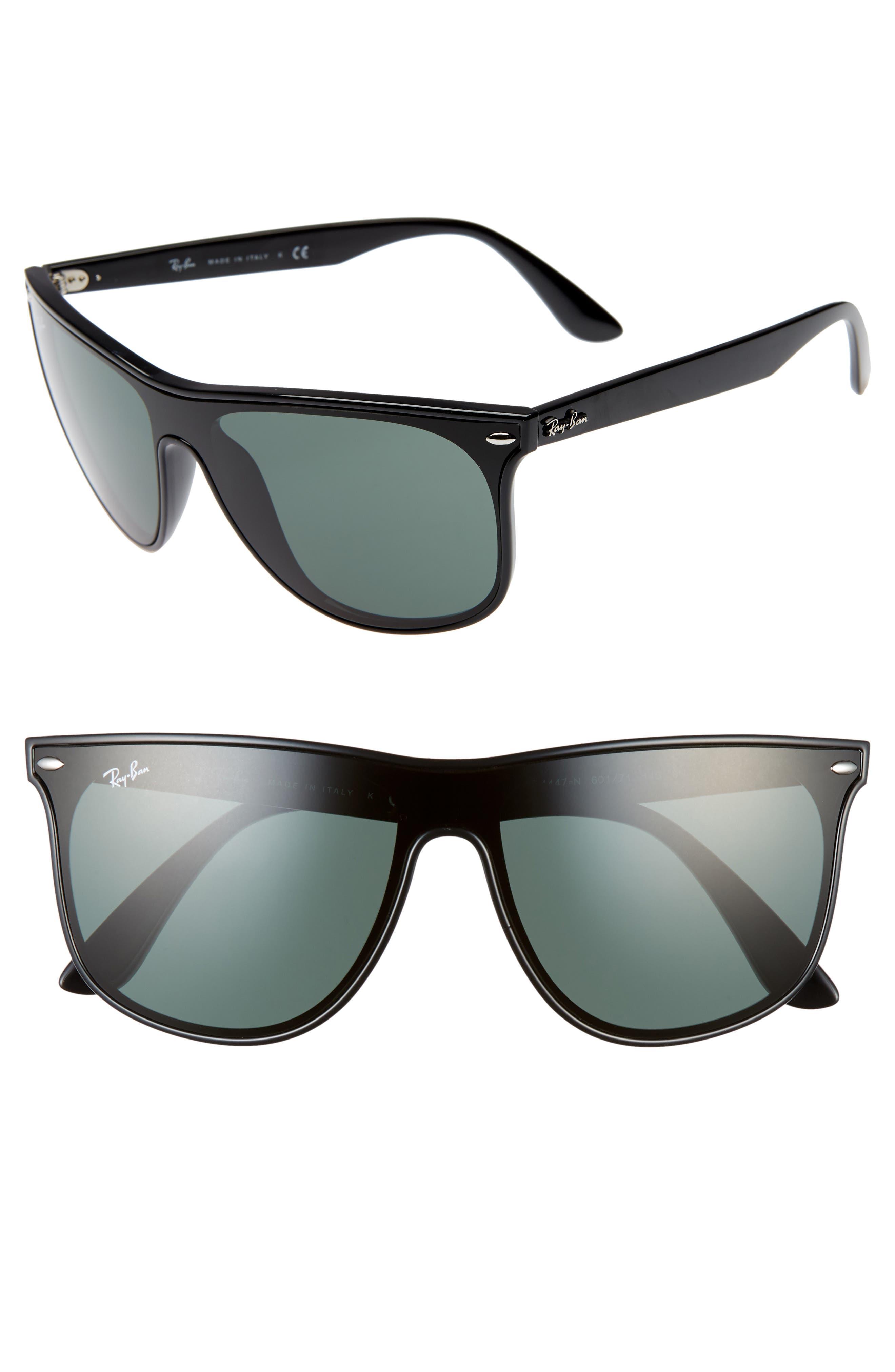 Ray-Ban Blaze 55Mm Sunglasses - Black