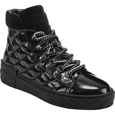 Marc Fisher Ltd Dulce Lace-Up High Top Sneaker, Black