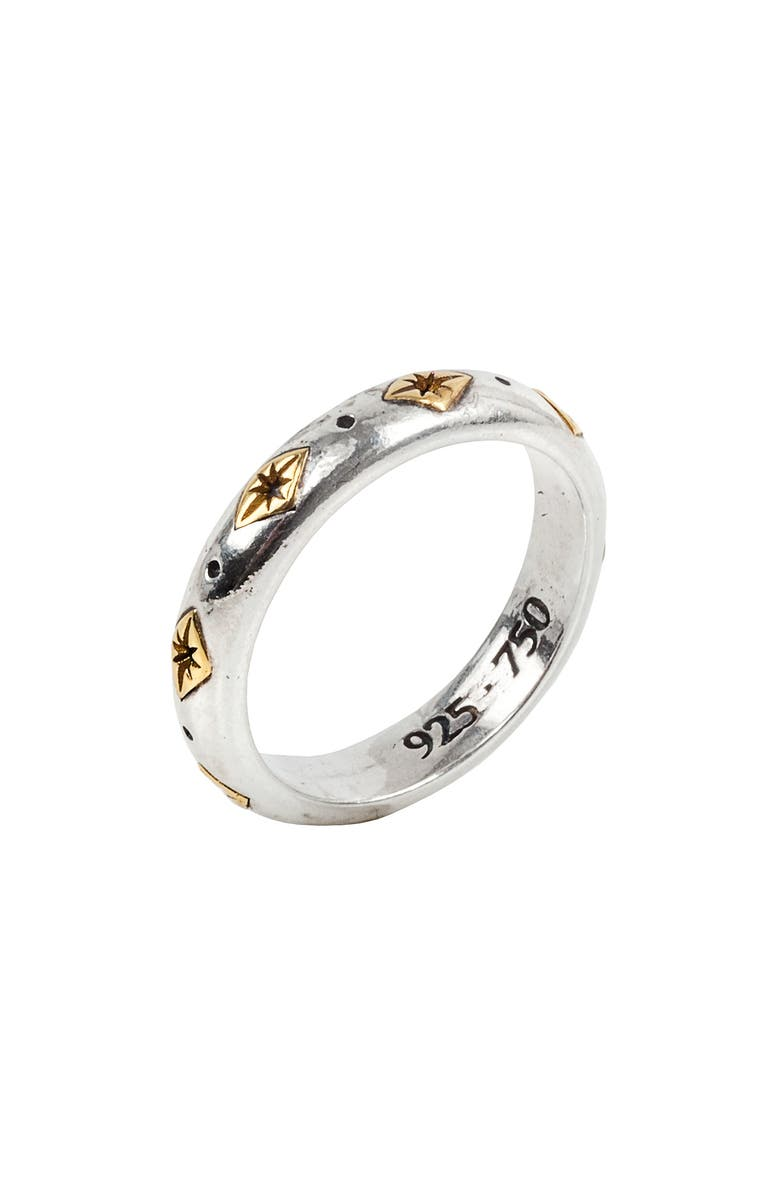 KONSTANTINO Astria Sterling Silver Stackable Ring, Main, color, GOLD