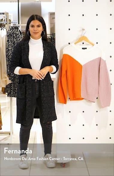 Colorblock Crewneck Cotton Sweater, sales video thumbnail