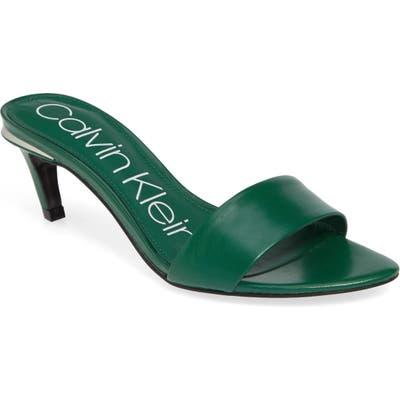 Calvin Klein Gallia Slide Sandal, Green
