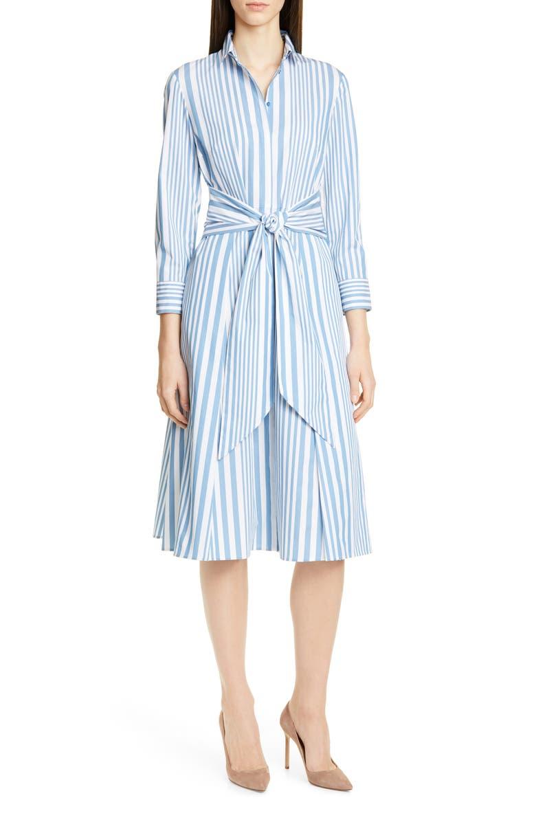BOSS Debrana Stripe Shirtdress, Main, color, 400