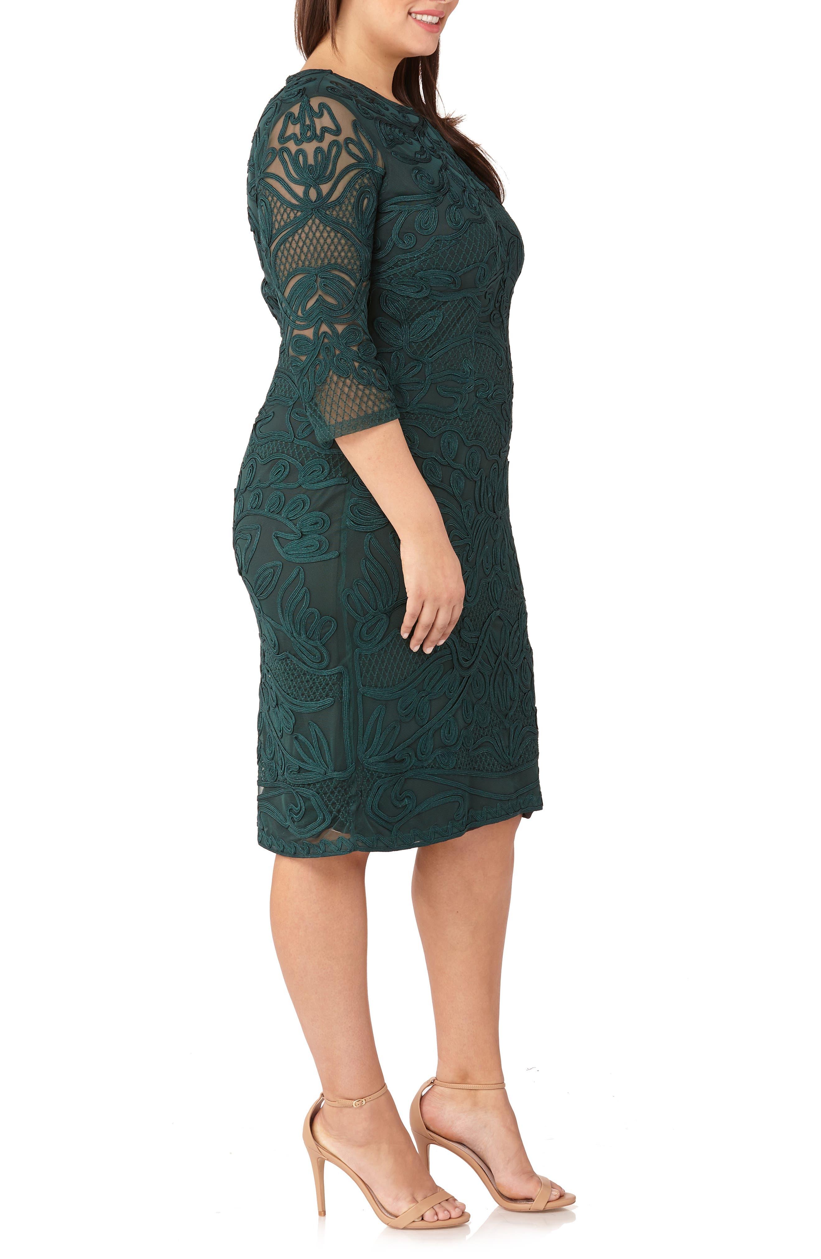 ,                             Soutache Sheath Dress,                             Alternate thumbnail 4, color,                             309